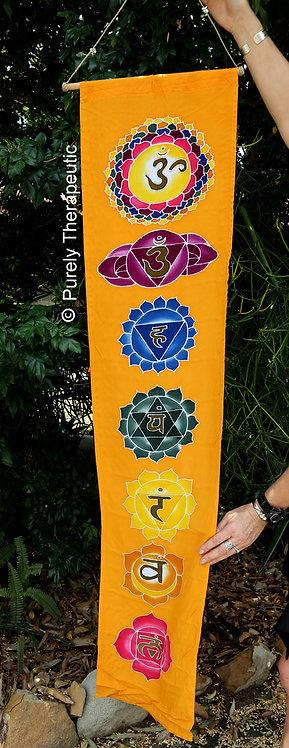 Orange Lotus Chakra Flag Wall Scroll