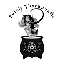 purely therapeutic logo with white circl