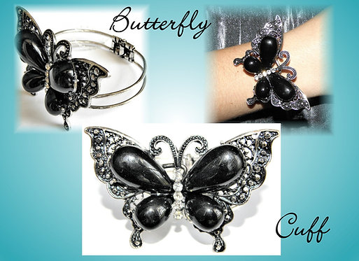 Large Butterfly Cuff Bracelet