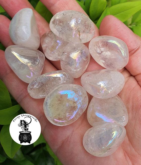 Angel Aura Quartz Gemstone Crystal