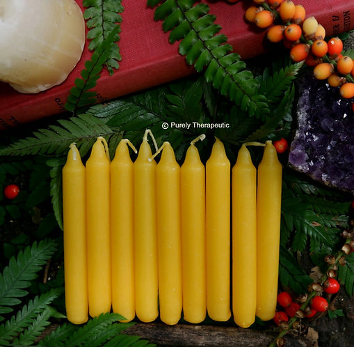 Yellow wish altar ritual chime spell candle