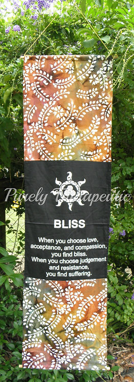 'Bliss' Affirmation Scroll Flag