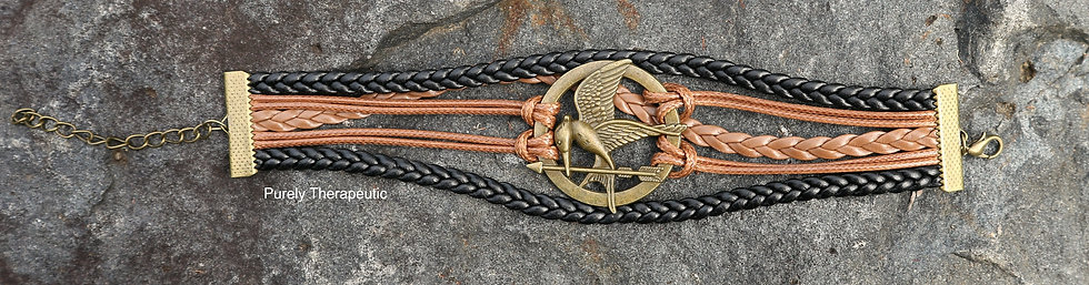 Mockingbird black and brown wristband bracelet