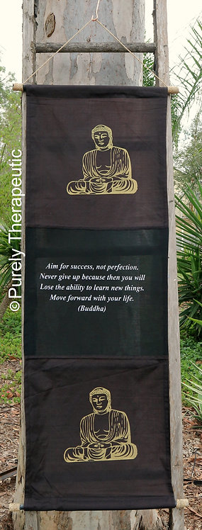 Inspirational Wall Scroll Flag Buddha