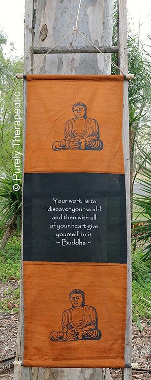 Flag Scroll Wall Hanging Buddha
