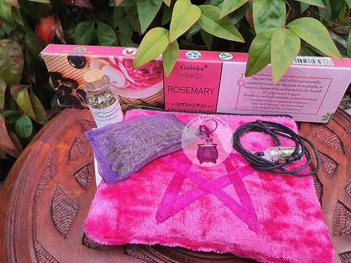 Pink Rosemary Kit for Witchcraft and spells