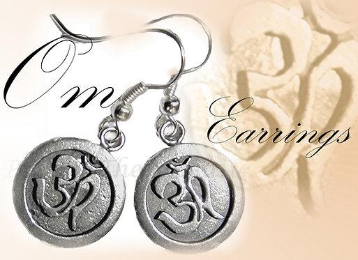 Om Earrings handmade