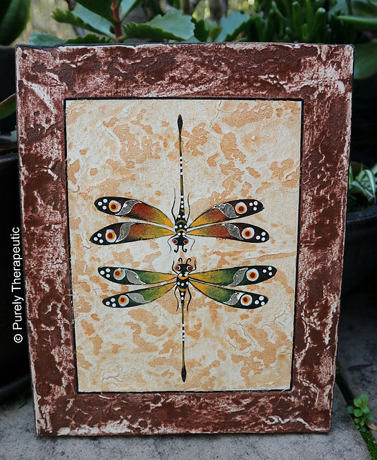 Twin_Dragonfly_Canvas_Wall_Hanging_Brown
