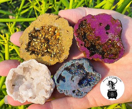 Gemstone Agate Thunder Egg Aura Quartz