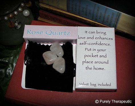 Rose Quartz Crystal Gift Pack