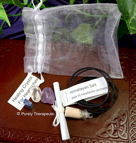 Gemstone Crystal Healing Pack for Headaches/Migraines