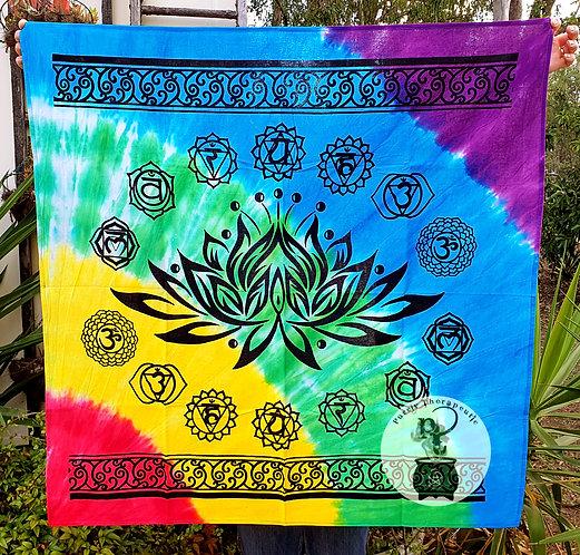Chakra Symbol Lotus Flower Altar Cloth