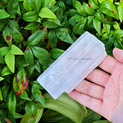 Raw Selenite Gemstone Crystal Charging Plate