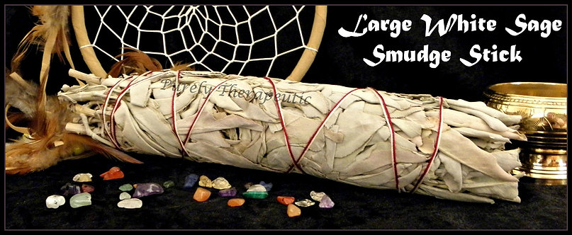 Large American White Sage Smudge Stick Clearing Cleansing