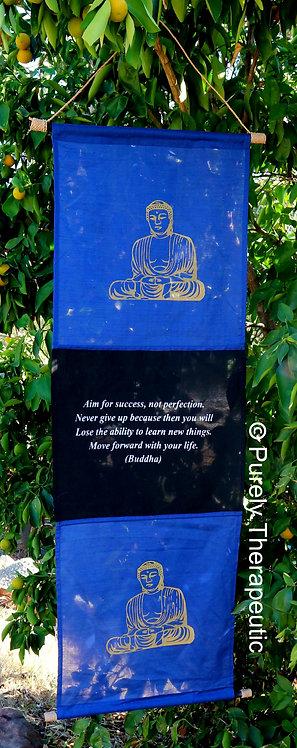 Buddha Inspirational Quote Wall Scroll Flag Blue Saying
