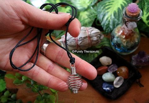 Adjustable Spring Cage Necklace