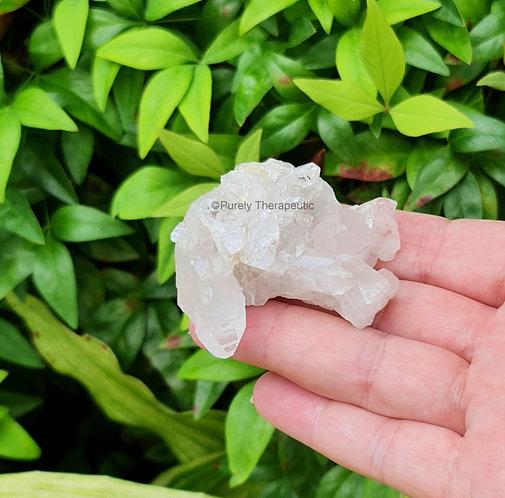 Clear Quartz Crystal Gemstone Cluster