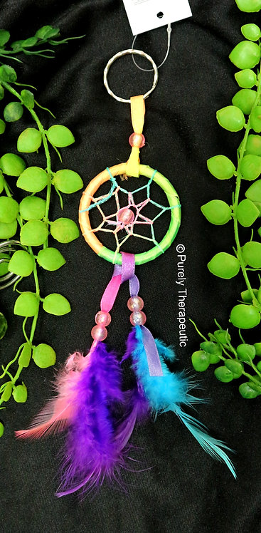 Rainbow Key Ring Dream Catcher