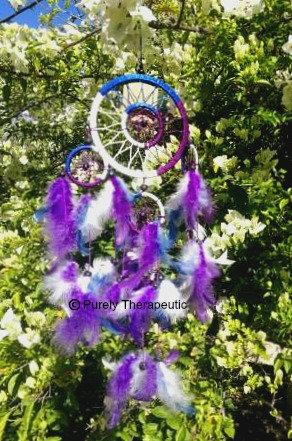 Blue White Purple Dream Catcher