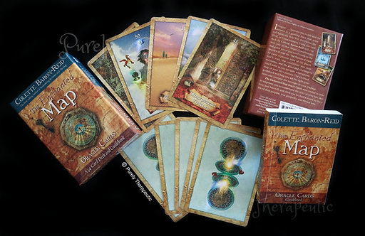 Sample of cards The Enchanted Map by Colette Baron-Reid