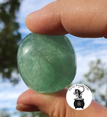 Green Fluorite Gemstone Crystal