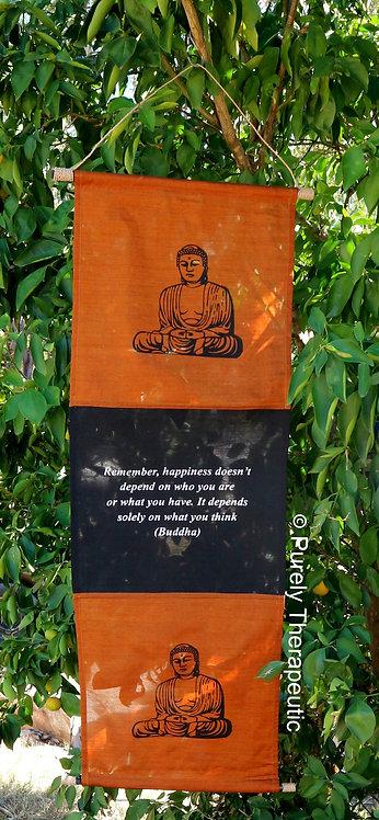 Buddha Inspirational Quote Wall Scroll Flag Burnt Orange