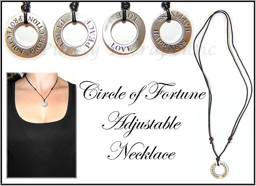 Circle of Fortune Adjustable Necklace