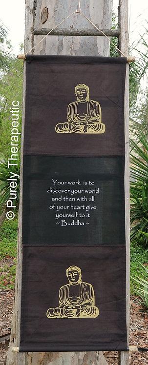 Inspirational Wall Scroll Flag Buddha