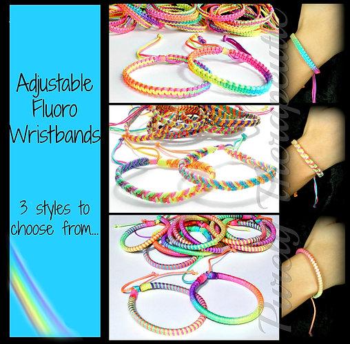 Adjustable Fluoro Wristband~Unisex
