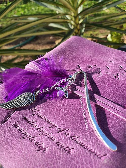 Amethyst Purple Angel Bookmark Page Marker
