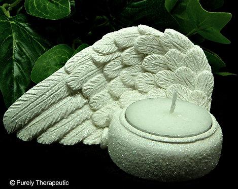 Angel Cherub Wing Tealight Candle Holder