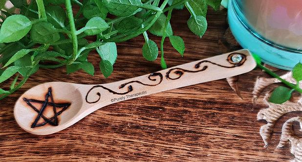 Wooden Altar Spoon (Diamante)