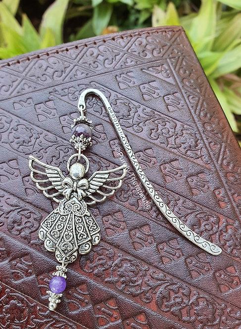 Amethyst Filigree Angel Bookmark
