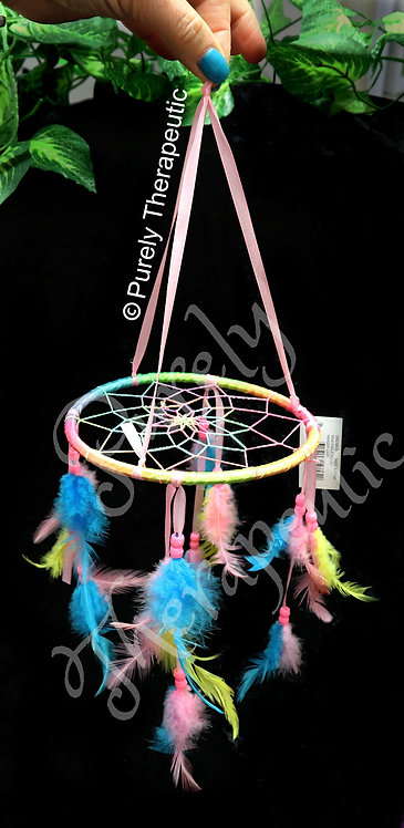 Rainbow Horizontal Dream Catcher~16cm Web