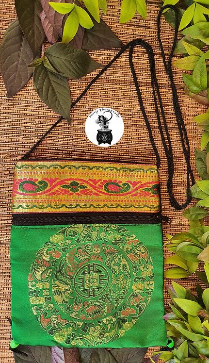 Green Emerald Hippy Boho Mandala Bag