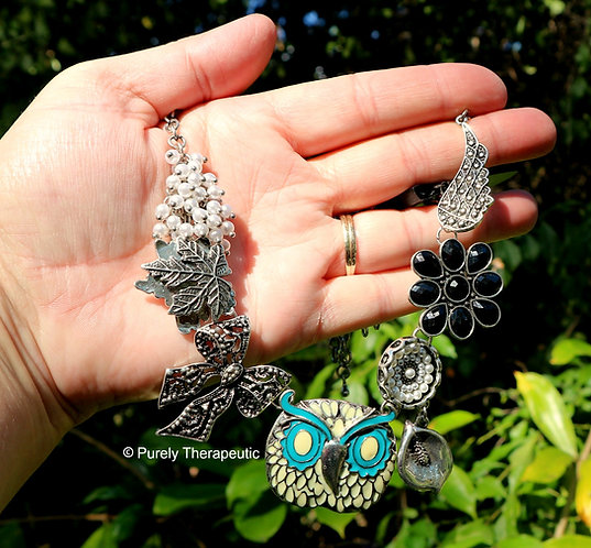 Owl Necklace Earrings