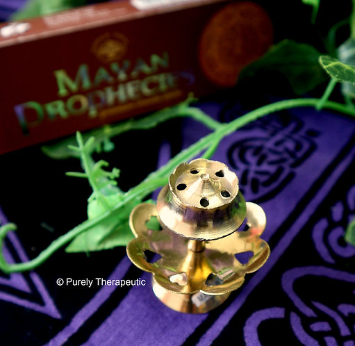 Heart Brass Incense Burner