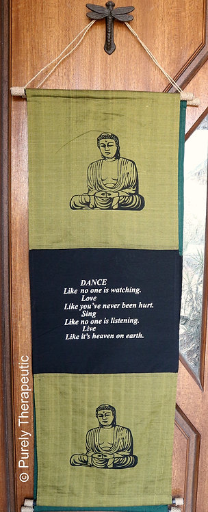 Buddha Inspirational Quote Wall Scroll