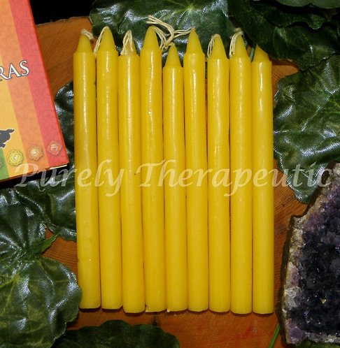Set of 9 Yellow Wish Spell Ritual Candles