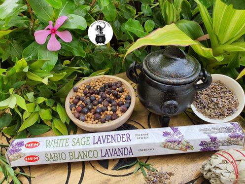 White Sage Lavender Incense Sticks