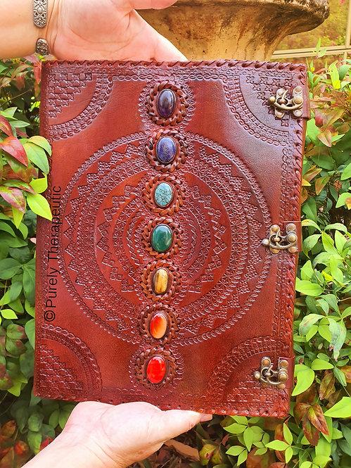 Chakra Leather Journal