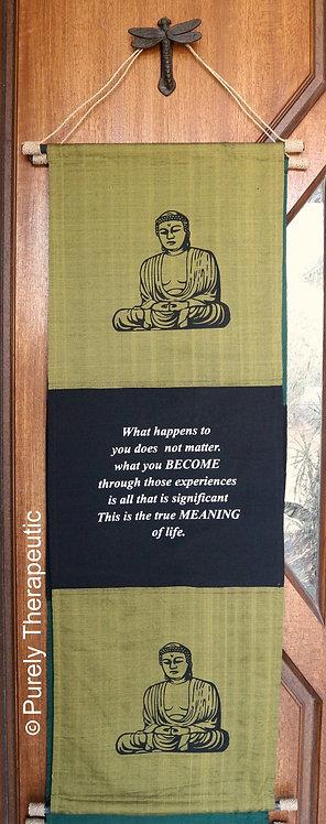 Buddha Inspirational Quote Flag Wall Hanging