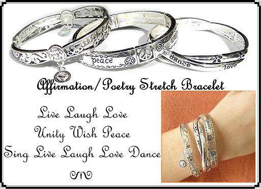 Stretch Positive Word Bracelet