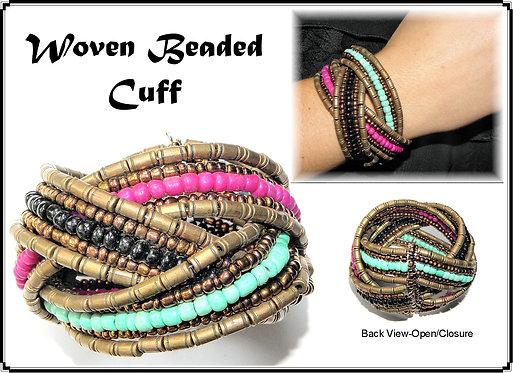 Woven Colourful Beaded Bracelet