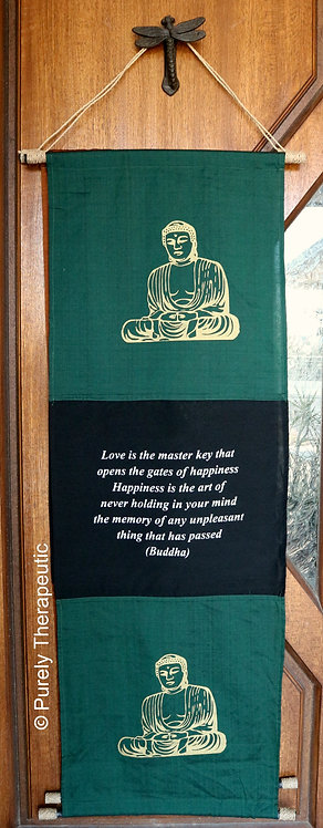Buddha Inspirational Quote Flag Wall Hanging Scroll