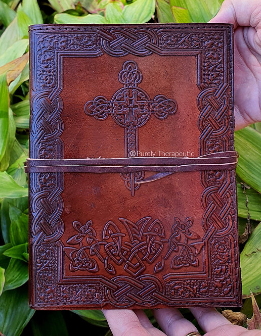 Celtic Cross Leather Notebook Journal