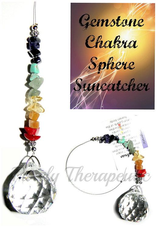 Gemstone Chakra Sphere Sun Catcher