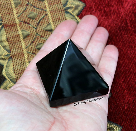 Black Pyramid Crystal