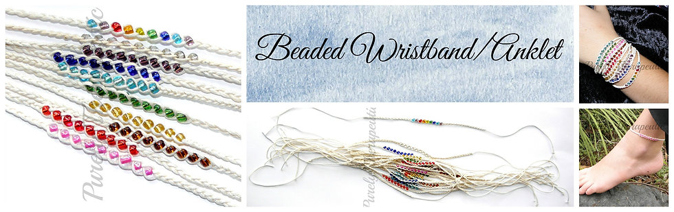 Beaded Wristband/Anklet