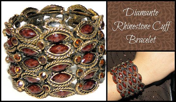 Diamante Rhinestone Cuff Bracelet